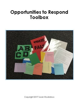 Opportunities to Respond - Formative Assessment Toolbox