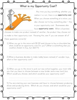 Free 3rd Grade Economics Worksheets | Teachers Pay Teachers