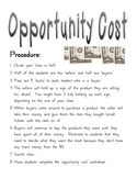 Opportunity Costs - Hands on 'Buying' Experience