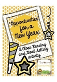 Opportunities for the New Year: Close Reading and Writing Assignment