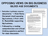 Opposing Views on Big Business - Gilded Age Documents - US History/APUSH