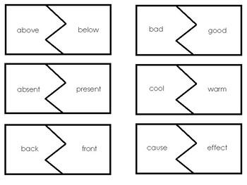 Opposite Antonyms Puzzles