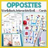 Antonym (Opposite) Cards & Activity Worksheets