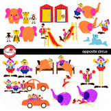 Opposite Circus Clipart by Poppydreamz