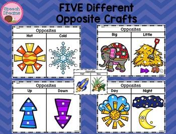Opposite Crafts Language {Antonyms Receptive Expressive Language Kit}