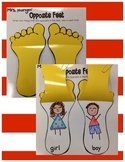 Opposite Feet an Antonym Activity