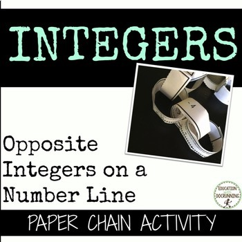 Opposite Integers on a Number Line Paper Chain Activity  (6.NS.C.6.)