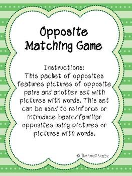 Opposite Matching Game