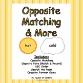 Opposite Matching & More Centers- Literacy Centers (Minima