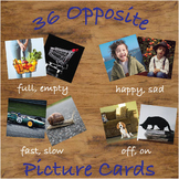 Opposite Picture Cards with Real Photos