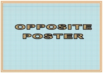 Opposite -- Poster, matching opposite card game and write