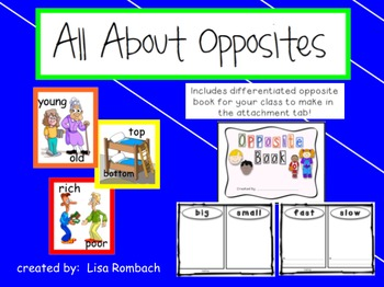 Opposite SmartBoard Lesson & Class Book to Make