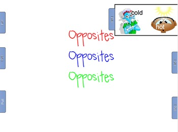 Opposite SmartBoard Lesson & Class Book to Make