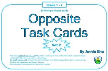 Opposite Task Cards Set 2