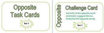 Opposite Task Cards Set 1