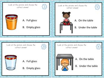 Opposite Task Cards - Kindergarten