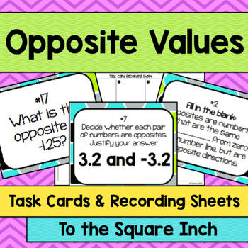 Opposite Value Task Cards