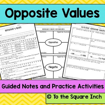 Opposite Values Notes