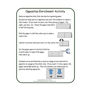 Opposite Words:  A Working Words Packet for Young Readers