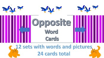 Opposite Words- Word Cards