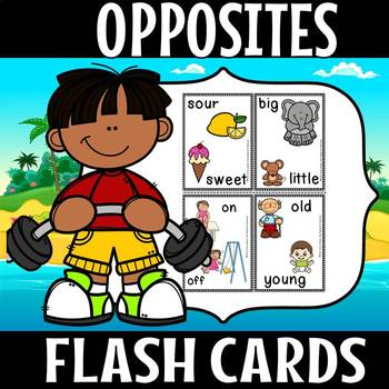 Opposite flash cards color version