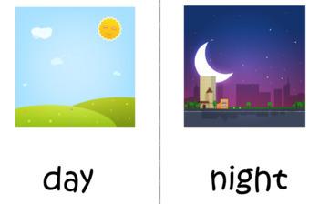 Opposite Matching with Flashcards - Preschool, ESL