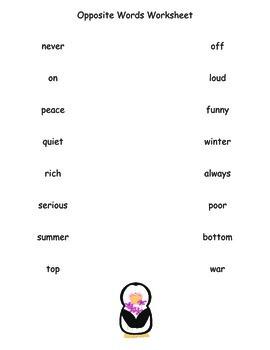 Opposite Words