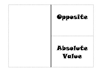 Opposite/Absolute Value Flipbook