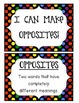 {Opposites/Antonyms} Sorting Cards for Kindergarten and First Grade