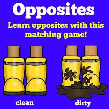 Opposites Match Activity
