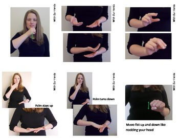 Opposites (ASL) Sign Language Vocabulary Cards