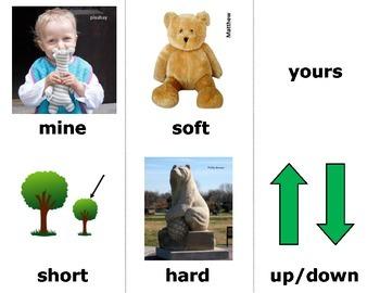 Opposites (ASL) Sign Language Vocabulary Cards