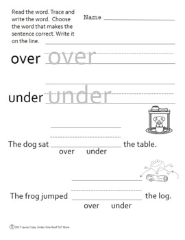 Opposites:  An ELA Packet for Primary Grades
