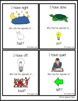 Opposites / Antonyms - I Have Who Has Card Game