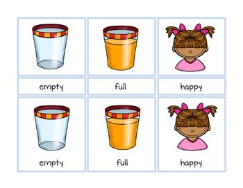 Opposites Antonyms Montessori Three Part Vocabulary Cards - color clip art