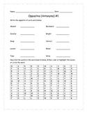 Opposites (Antonyms) for older grades