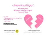Opposites Attract: a game that targets antonyms & synonyms