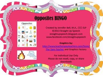 Opposites BINGO