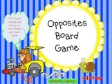 Opposites Board Game for Primary *Folder Game with Drawing and Writing