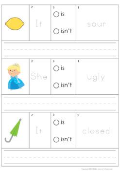 Opposites Building Sentences Set