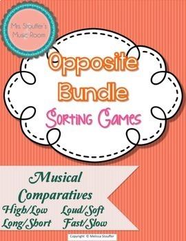 Opposite Bundle - Music {Worksheets/Centers}