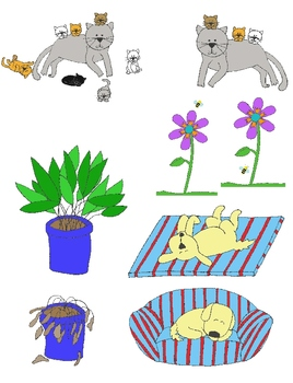 Opposites Clip Art:  44 PNGs of Illustrated Antonyms