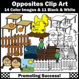 Opposites Clipart, Antonyms Clip Art, Commercial Use SPS