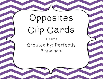 Opposites Clip Cards