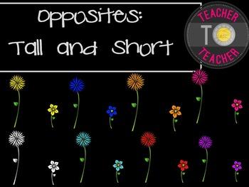Opposites Clipart: Tall and Short {TeacherToTeacher Clipart}