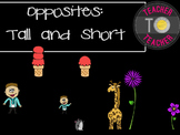 Opposites Clipart: Tall and Short {TeacherToTeacher Clipart}
