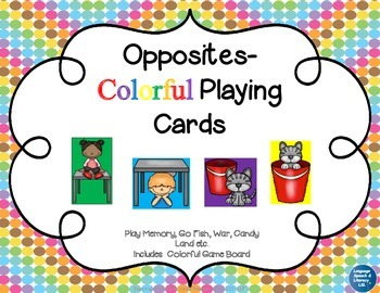 Opposites - Colorful Playing Cards