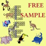 Opposites Crosswords FREE sample