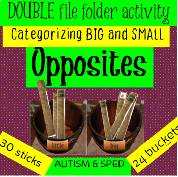 Opposites: FREE Off The Wall Double Folder Activity special education & autism