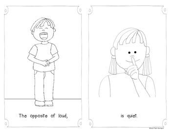 Opposites Emergent Reader {for Kindergarten and First Grade} Booklet #2